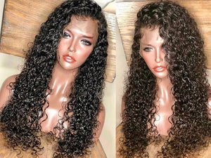 "28 INCHES! ""Kool"" 100% Indian Curly Lace Frontal Customized Wig"