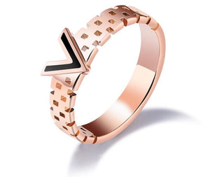 """V is for Vengeance"" Rose Gold Ring"