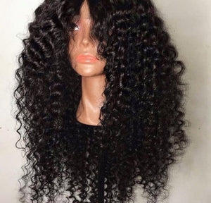 """Lyrical"" Curly Indian Virgin Hair Lace Front Wig"