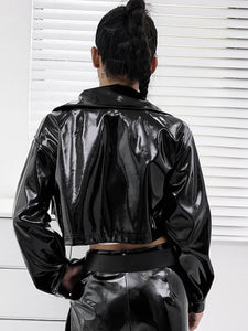 Murdahsherote Crop Leather Jacket