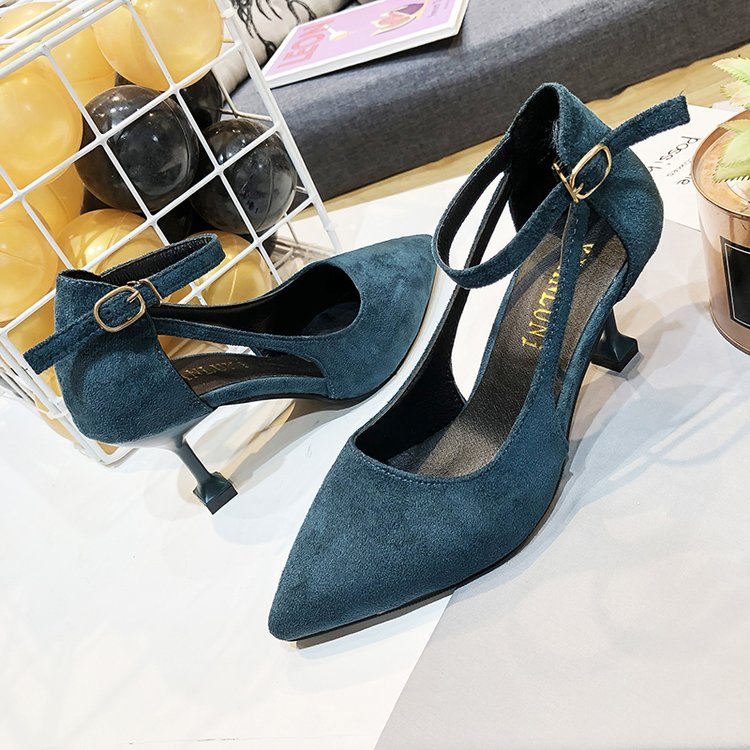 """Deduction"" Suede Squared Heels"