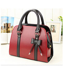 """Fun"" Leather Handbag with Stylish Bow"