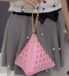 """The Pyramid"" Leather Handbag"