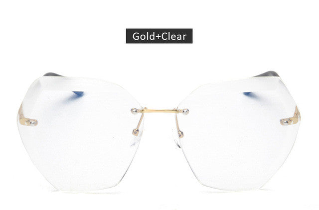 Oversized Gradie Rimless Sunglasses