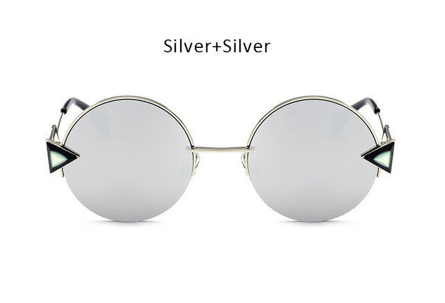 """Mild Mannered"" Round Sunglasses"