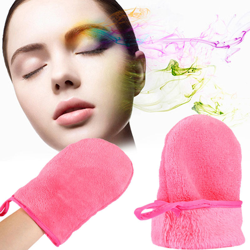 New! Reusable Microfiber Makeup Remover Cleansing Glove
