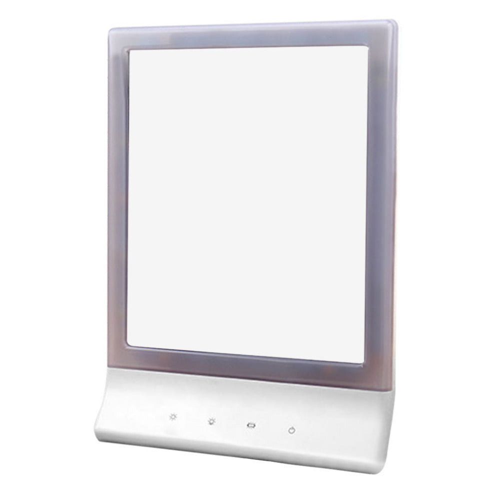 Portable Size 18 LEDs Desktop Women Makeup Mirror Adjustable Luminous Lady Facial Makeup Cosmetic Mirror With Magnifying Glass