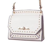 """Bolted"" Handbag w/ Gold Cross-Body Strap"