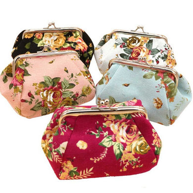 Floral Makeup Bag/ Wallet