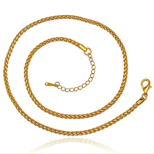 """Tie Me Up"" Gold & Rose Gold Chain"