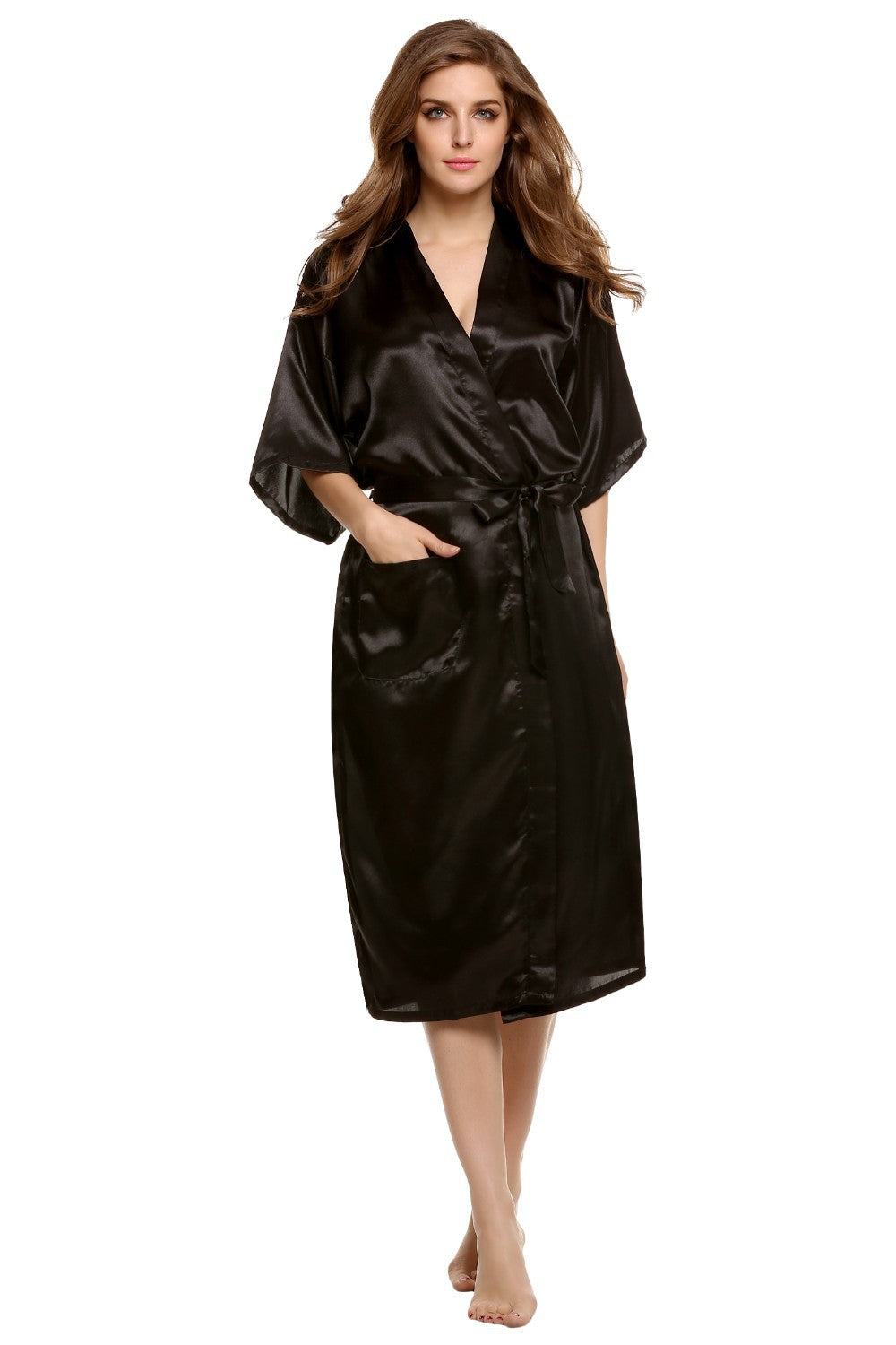 EXTRA LONG SILK ROBE