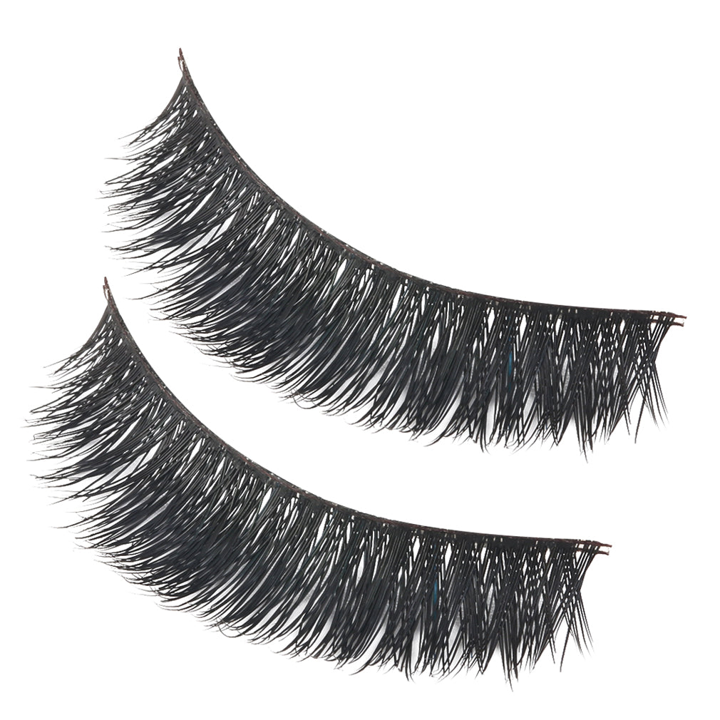 1 pair Luxurious 100% Real Mink Natural Thick Soft Eye Lashes