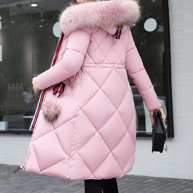 Full Faux Fur Collar Parka Coat
