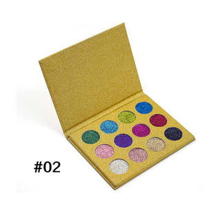 iMagic 12 COLOR PRESSED GLITTER EYESHADOW PALETTE