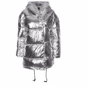 Silver Parka Coat (ONLY A CERTAIN TYPE OF BADDIE CAN PULL THIS OFF!)