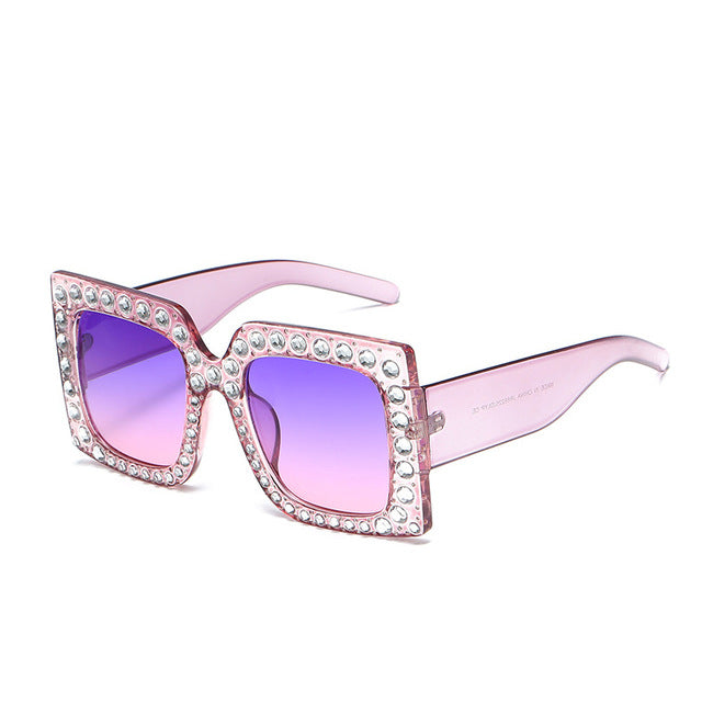 """Oochie Wally"" Oversized Bling Sunglasses"