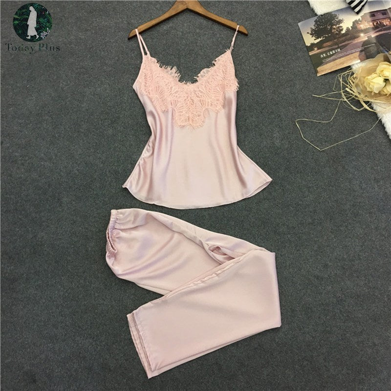 2 PIECE SILKY PAJAMA SET