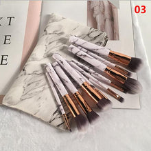 Marble Print Makeup Brush Set