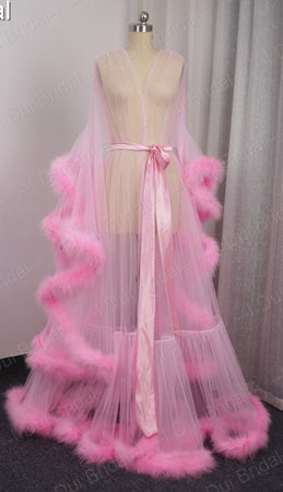 NEW! Feather Boa Robe - 8 COLORS TO CHOOSE FROM!