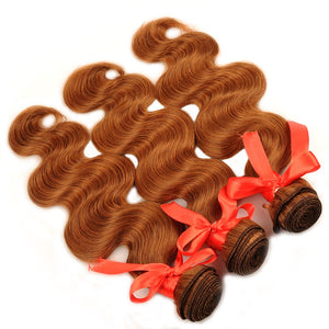 Pre-Colored 100% Virgin Peruvian Body Wave Hair - 3 Bundles with FREE CLOSURE