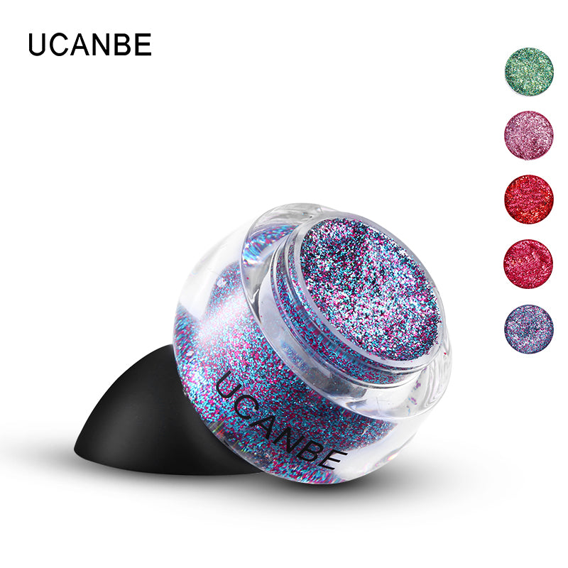 UCANBE Brand Eyeshadow Body Glitter Paste Makeup Shimmer Sparkle Face Eyes Hair Hand Highlighter Paint Gel Cosmetic Shadow Cream