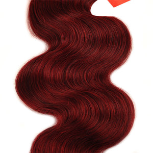 """Red Velvet Cake"" 3 BUNDLES & CLOSURE! PERUVIAN BODY WAVE THICK BUNDLES!"