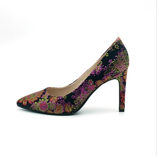 Venice Inspired Elegant Embroidery Luxury Shoe