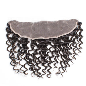 """Treasure 3"" Malaysian Water Wave Lace Frontal Closure With 4 Bundles"