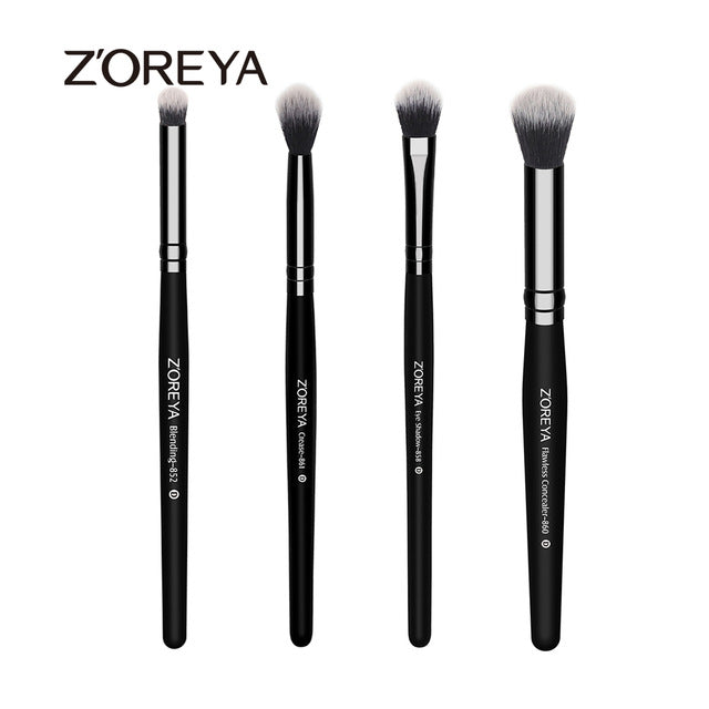 ZOREYA 4pcs Professional Makeup Brushes Eyeshadow Blending Crease Concealer