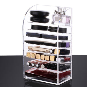 Multi-layer Acrylic Makeup Organizer case Cosmetics storage box  Nail polish Display Stand rack