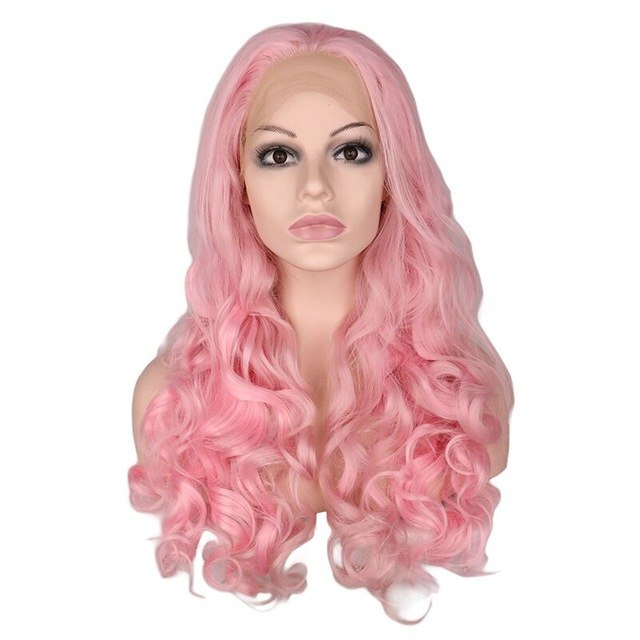 """Leslie"" Blonde or Pink Human Hair/Synthetic Blend"