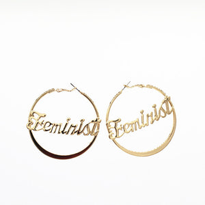 """Feminist"" Hoop Earrings"