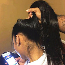 360 Lace Frontal Wig Brazilian Remy Straight Wig Customized by Tyneara DaVinci