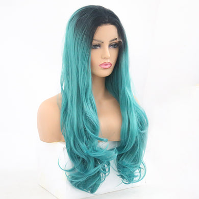 Teal Ombre Lace Front Wig SYNTHETIC