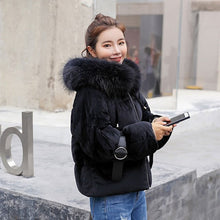 Velour & Fur Winter Parka Coat