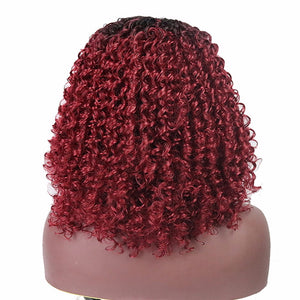 Synthetic Red Wine Curly 16 inch wig