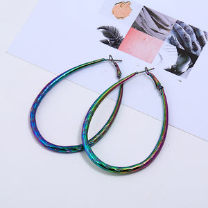 Holographic Oval Earrings