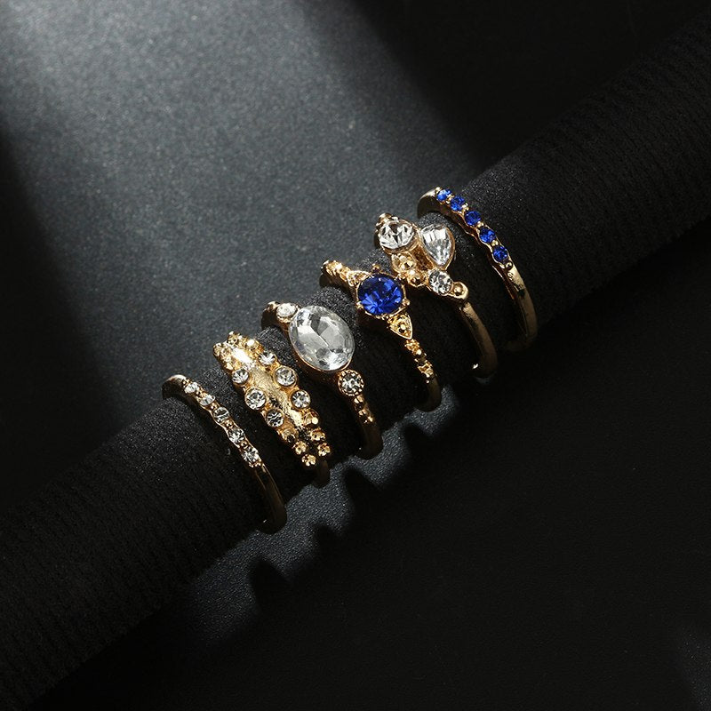 Tocona 6pcs/set Vintage Ring Set