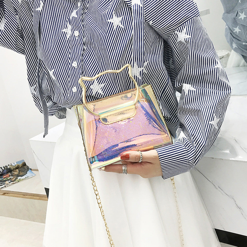 Transparent Holographic Handbag