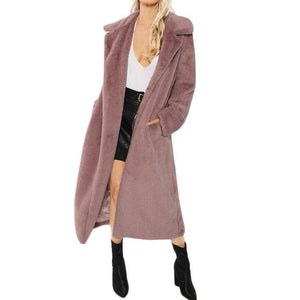 """The Teddie"" Open Long Lined Front Coat"
