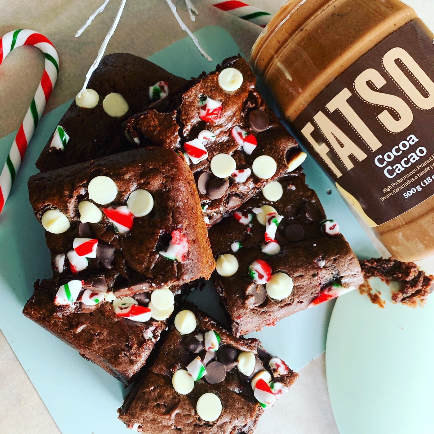 Fudgy Fatso Peppermint Brownies