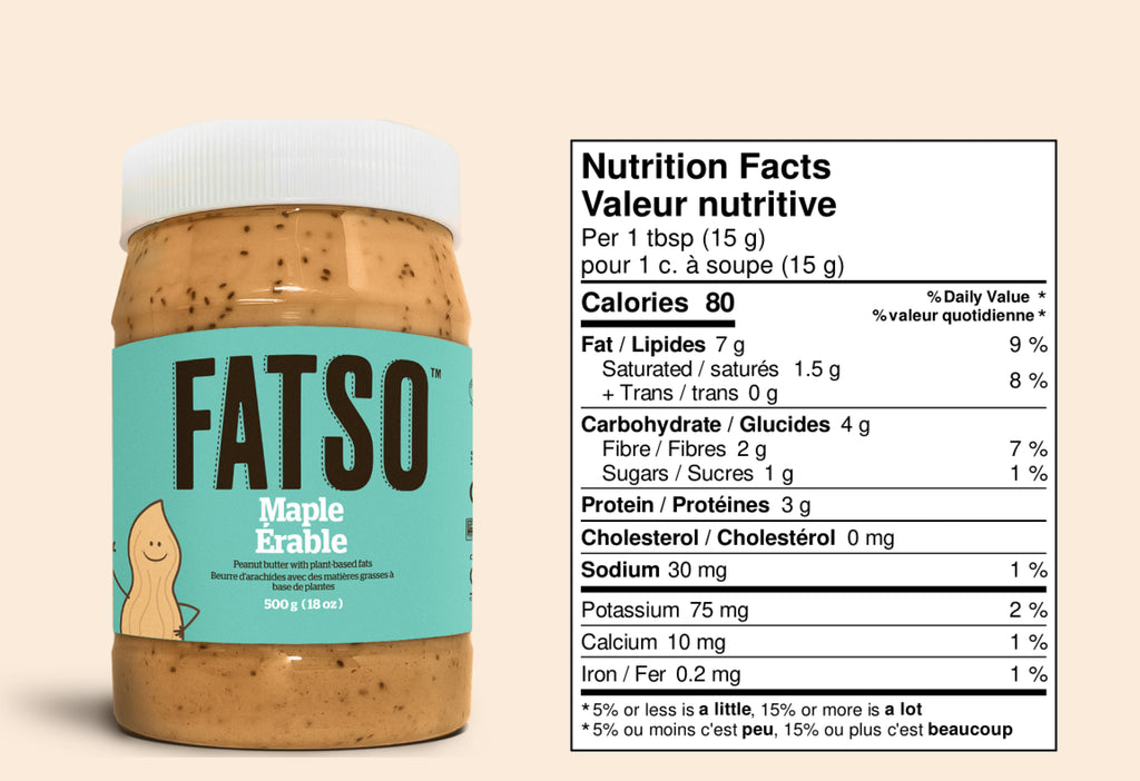 Nutrition Facts for Maple Peanut butter - 1 tbsp: Calories 80