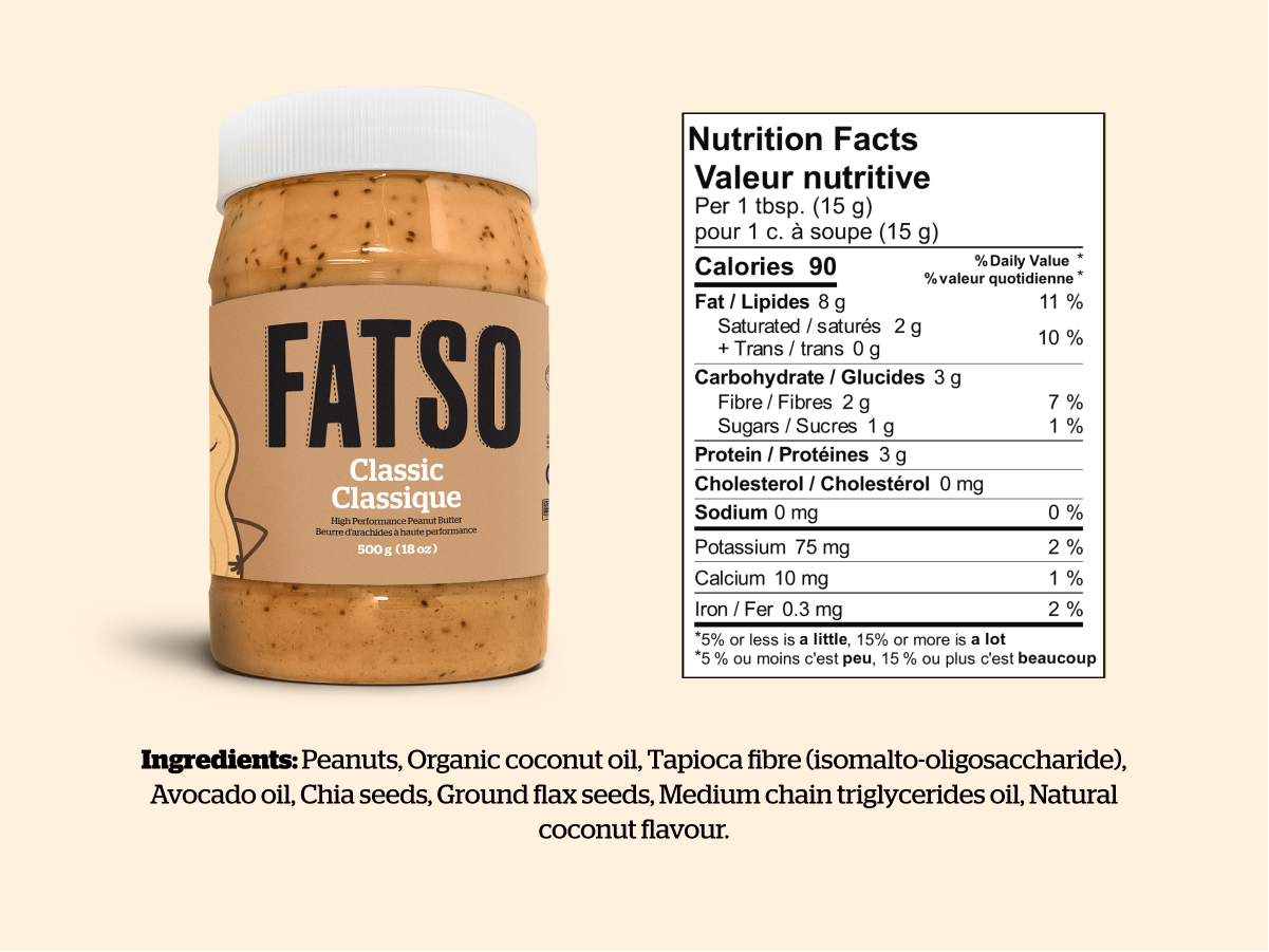 Fatso Classic Nutritional Information
