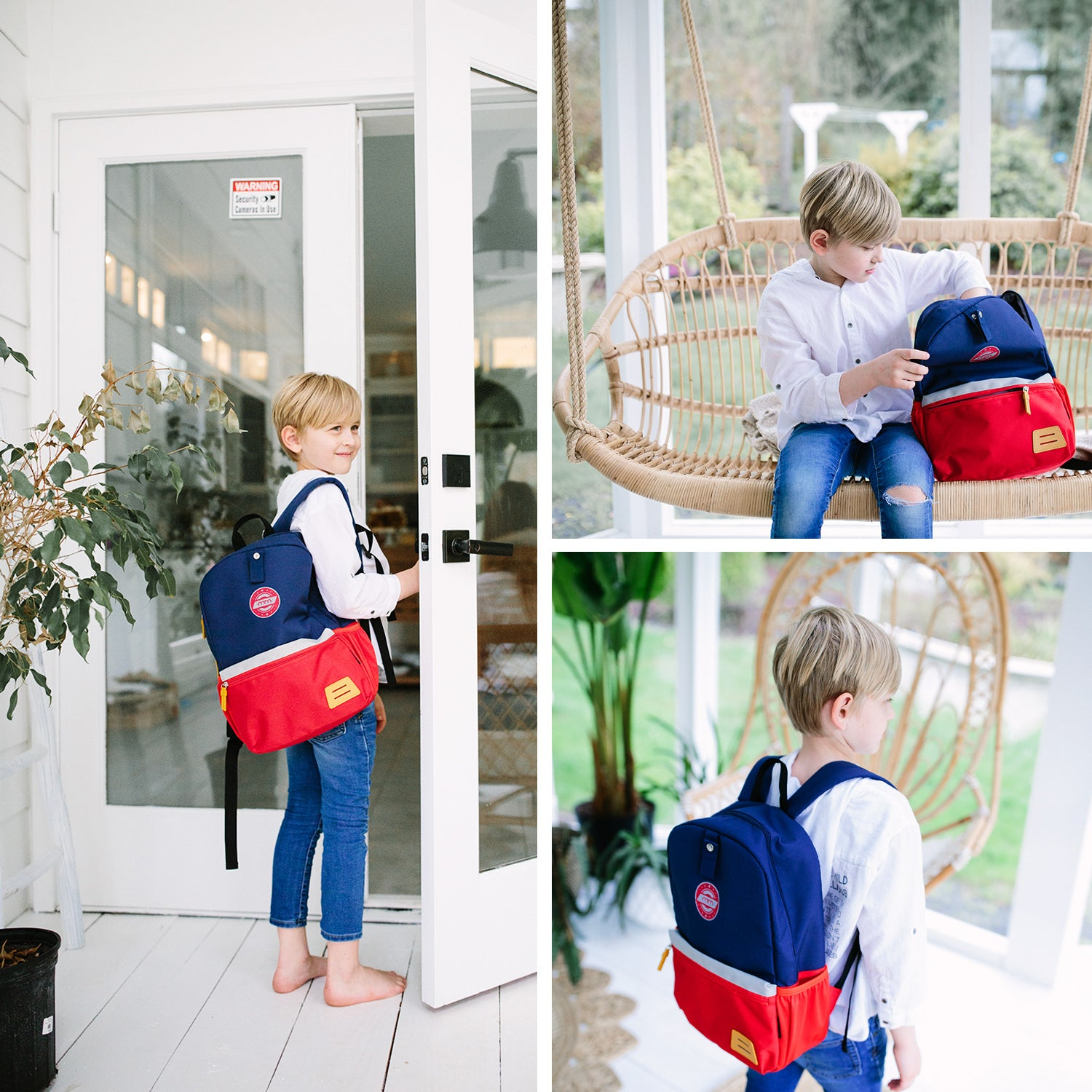 KIDS BACKPACK WITH CHEST CLIP