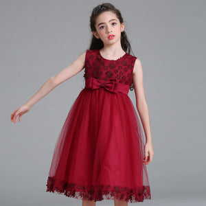 2021 new girl flower princess dress