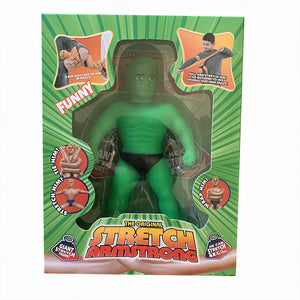 STRETCH ARMSTRONG Elastic Rubber Doll for Kids Unzipped Toy
