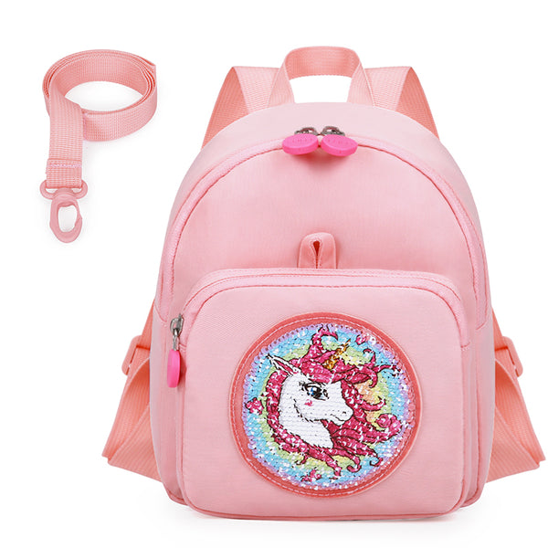 Glitter & Sequins Toddler Bag with Leash - MOMMORE