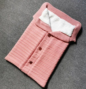 Unisex baby blanket, soft thick velvet fabric