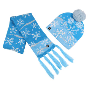 Christmas series children LED knitted hat and scarf set