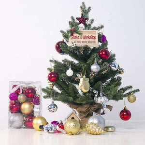 Powdered Shaped Christmas Balls Ornaments(30 pcs)